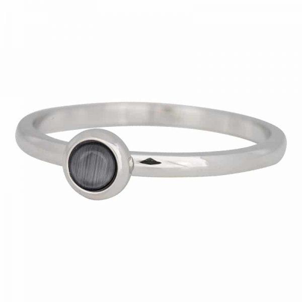 2mm ring R4101-3 natuursteen grijs - zilver