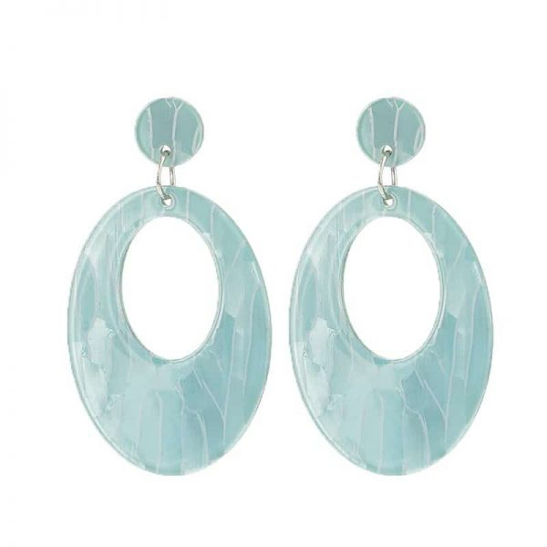 Beach Shell Ovals  - Blue