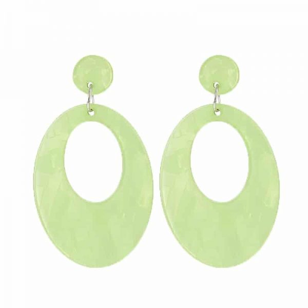 Beach Shell Ovals - Green