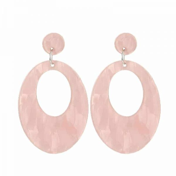 Beach Shell Ovals  - Light Pink