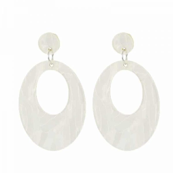 Beach Shell Ovals - White