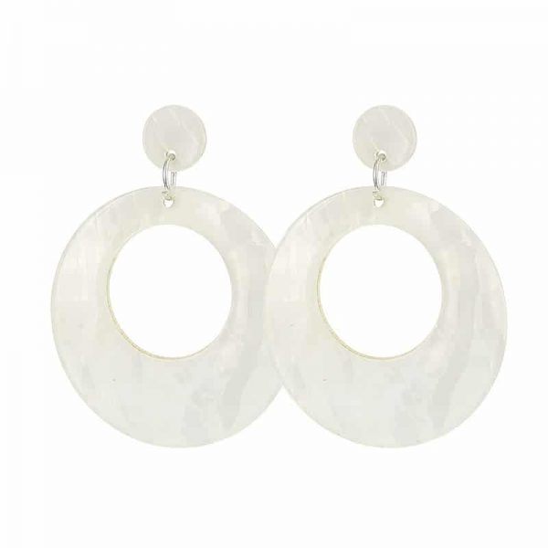 Beach Shell Rounds - White