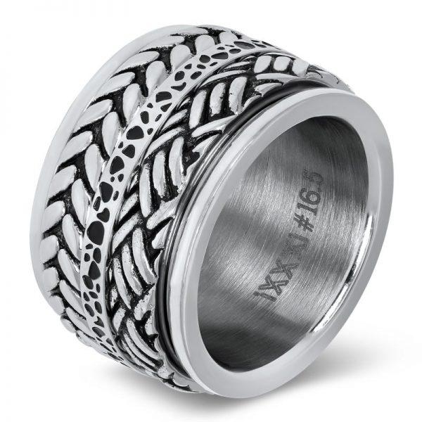 IXXXI 10 mm zilveren basisring gevuld met 3 ringen