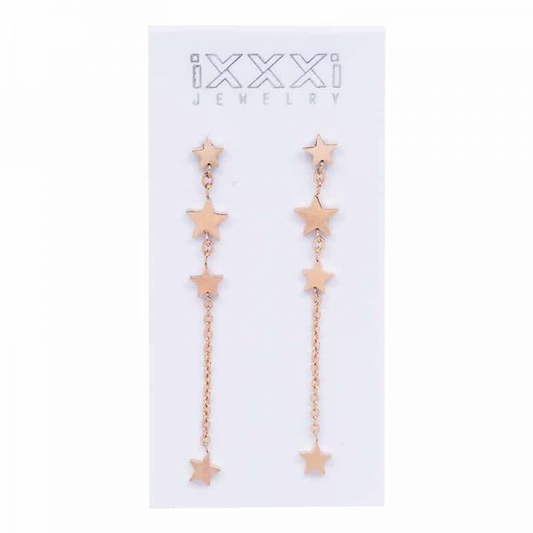 IXXXI Ear studs 4 stars dangle