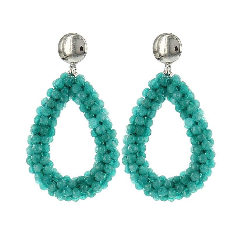 Luxury Bead Ovals - Green
