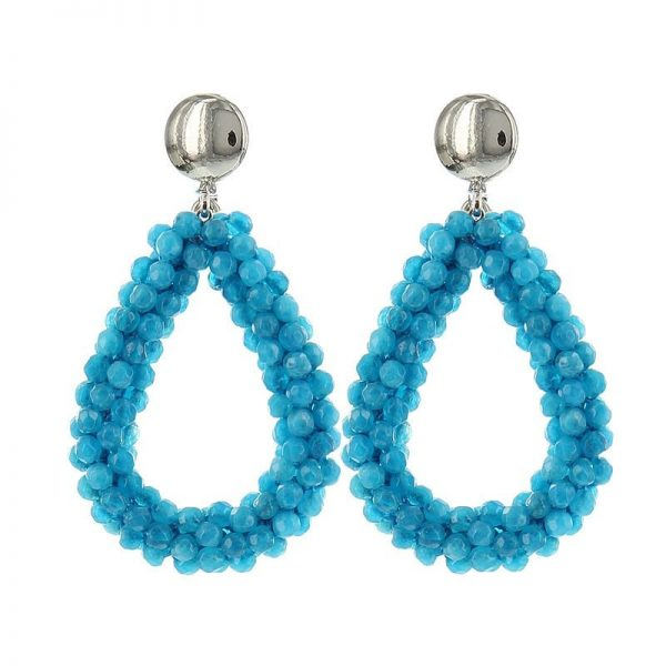 Luxury Bead Ovals - Light Blue