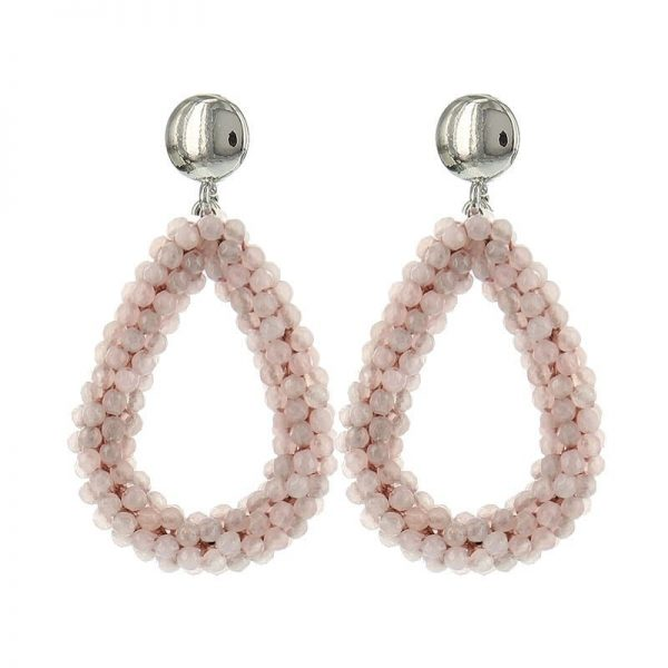 Luxury Bead Ovals - Light Pink
