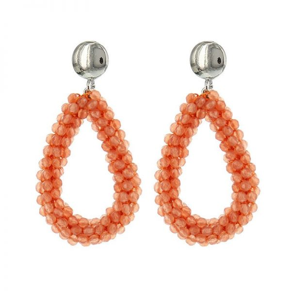 Luxury Bead Ovals - Orange