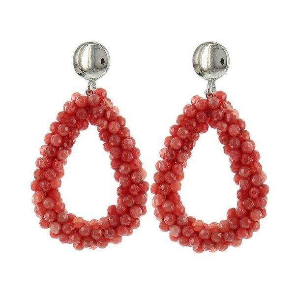 Luxury Bead Ovals - Red