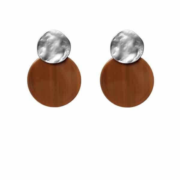 Luxury oorhangers - bruin