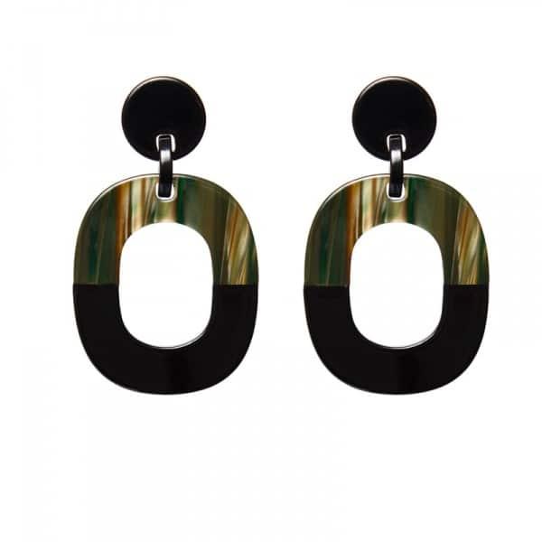 Luxury oorhangers - gemalleerd donker groen