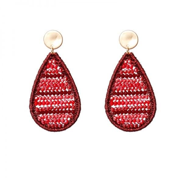 Luxury oorhangers - rood, oranje