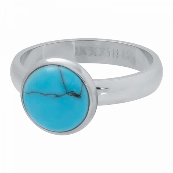 1 Blue turquoise stone 12 mm