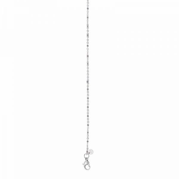 Necklace Grey beads 50+5cm