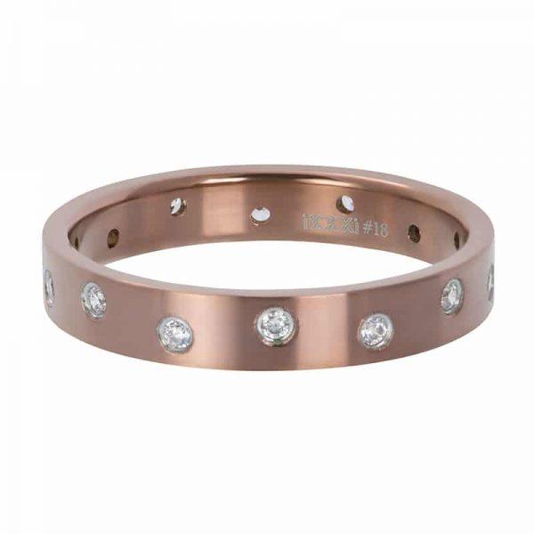 Zirconia 14 stones crystal 4mm vulring bruin - iXXXi