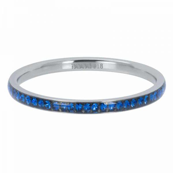 Zirconia Capri blue 2mm vulring zilver - iXXXi