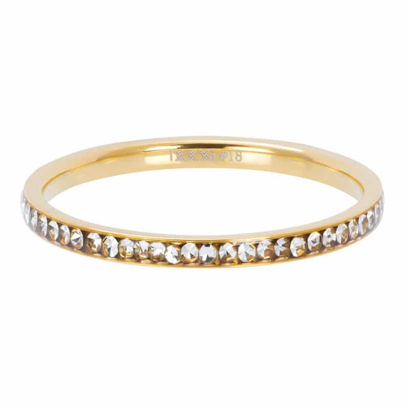 Zirconia crystal 2mm vulring goud - iXXXi