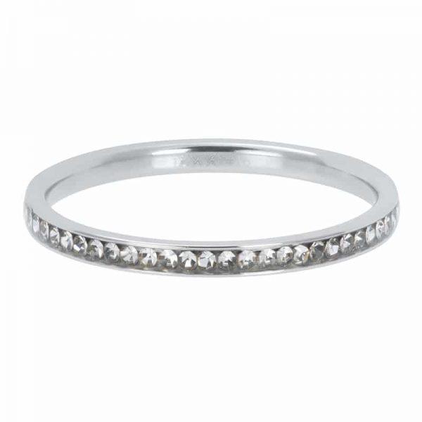 Zirconia crystal 2mm vulring zilver - iXXXi