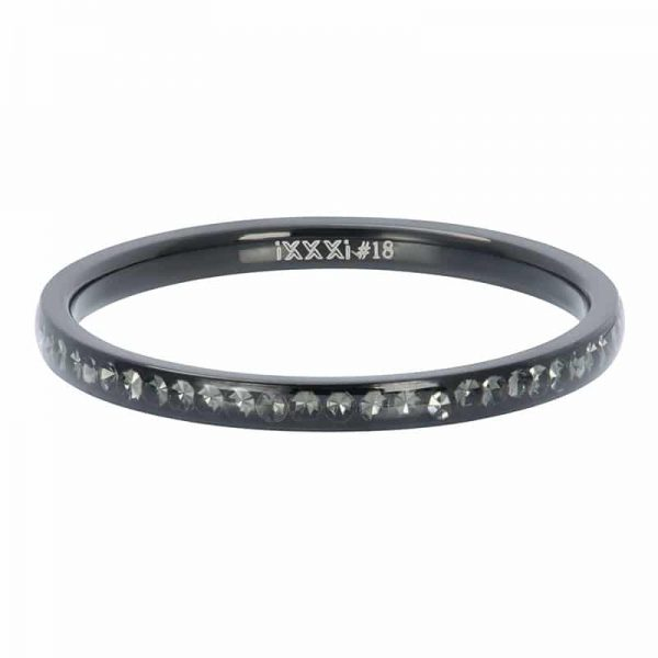 Zirconia crystal 2mm vulring zwart - iXXXi