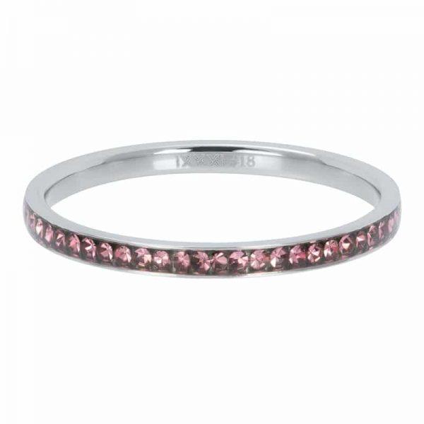 Zirconia pink 2mm vulring zilver - iXXXi