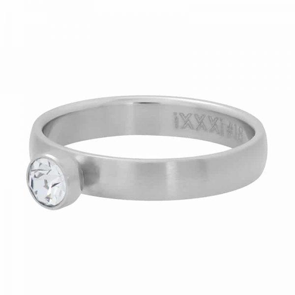 Zirconia stone crystal 4mm vulring zilver grijs - iXXXi