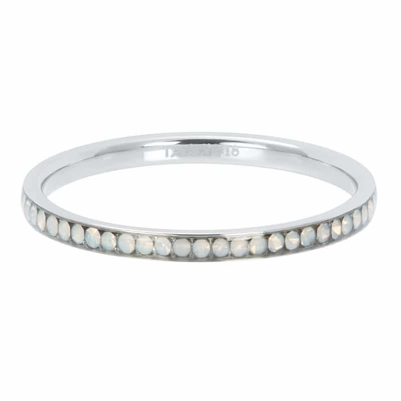 Zirconia white opal 2mm vulring zilver - iXXXi