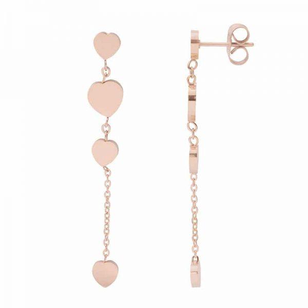 4 Hearts dangle oorbellen rosé - iXXXi - iXXXi