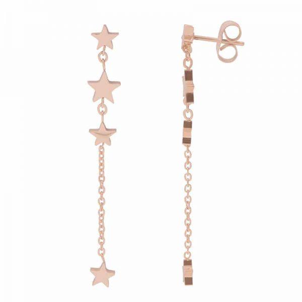 4 Stars dangle oorbellen rosé - iXXXi - iXXXi