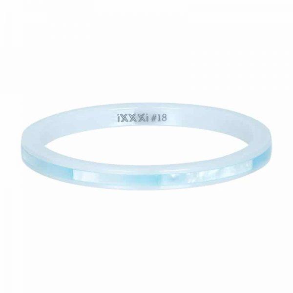 Ceramic blue shell 2mm vulring wit - iXXXi