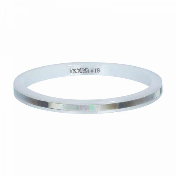 Ceramic grey shell 2mm vulring wit - iXXXi