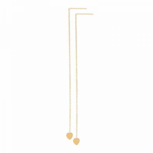 Chain heart oorbellen goud - iXXXi