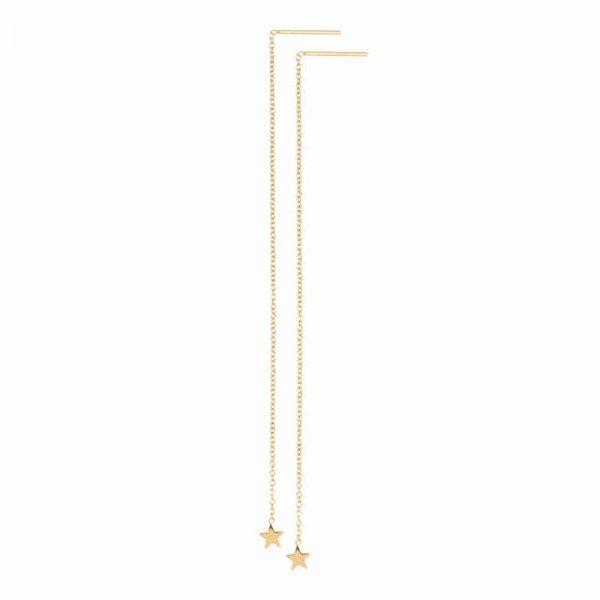 Chain star oorbellen goud - iXXXi