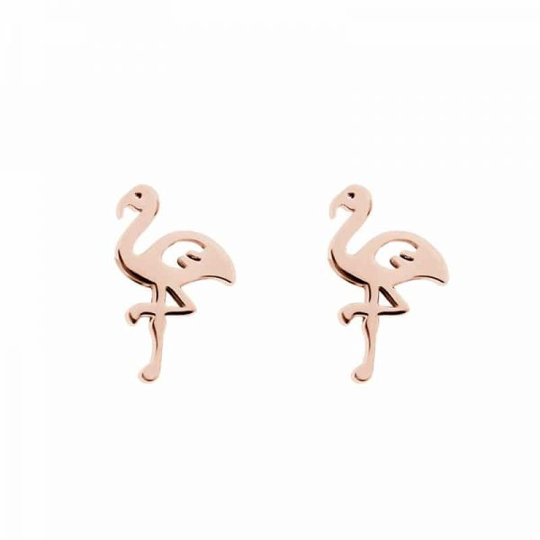 Flamingo oorbellen rosé - iXXXi