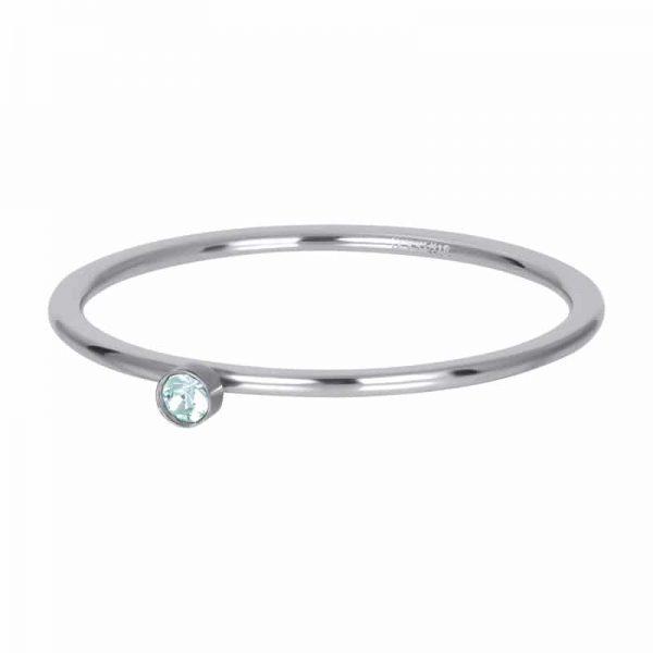 Green stone crystal 1mm vulring zilver - iXXXi