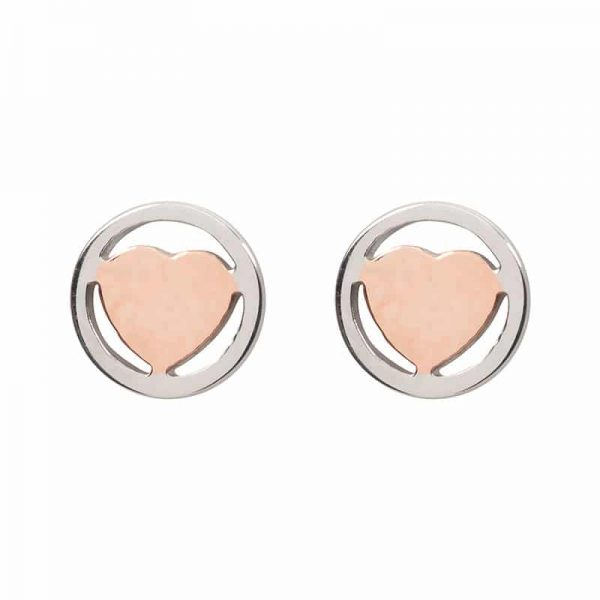 Heart oorbellen rosé - iXXXi