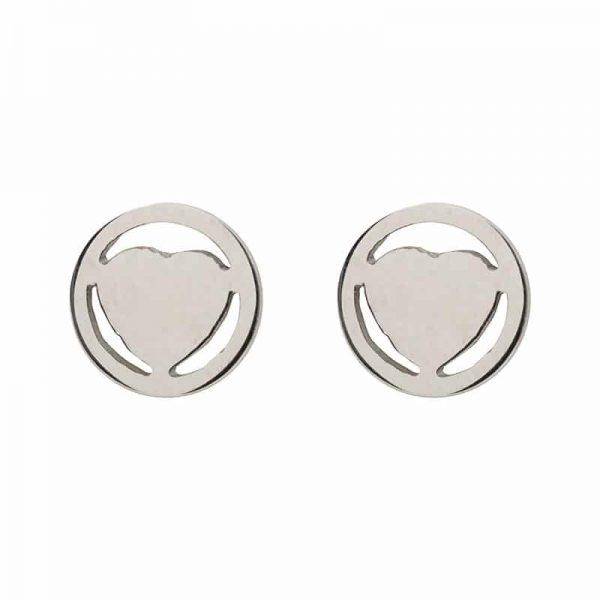 Heart oorbellen zilver - iXXXi