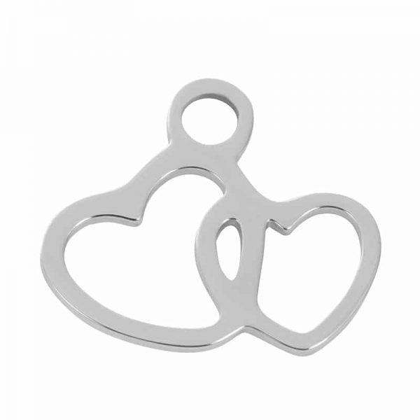 Hearts - hanger zilver - iXXXi