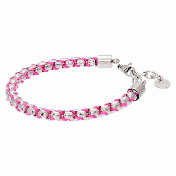 Ibiza pink armband zilver - iXXXi