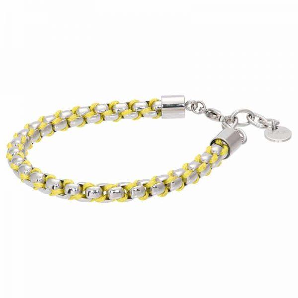 Ibiza yellow armband zilver - iXXXi