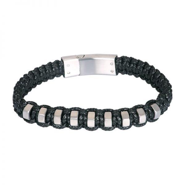 Lederen heren armband lewis zilver grijs - iXXXi