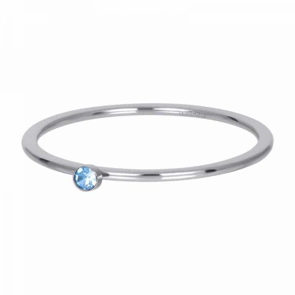 Light saphire stone crystal 1mm vulring zilver - iXXXi
