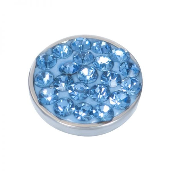 Light sapphire stone 7mm top part zilver - iXXXi