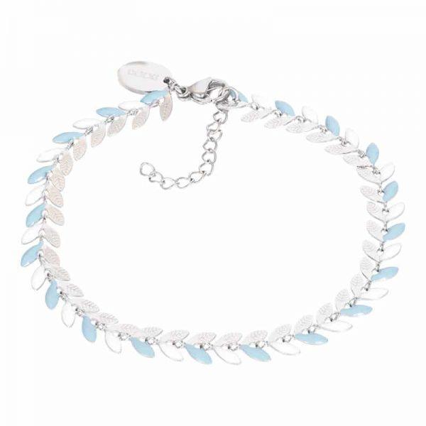 Malediven (blue) armband zilver - iXXXi