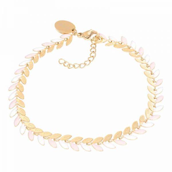 Malediven (pink) armband goud - iXXXi