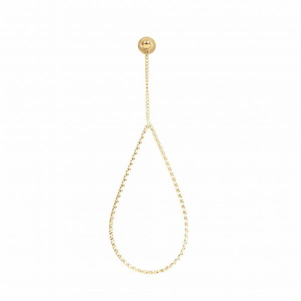 Oval chain twist oorbellen goud - iXXXi