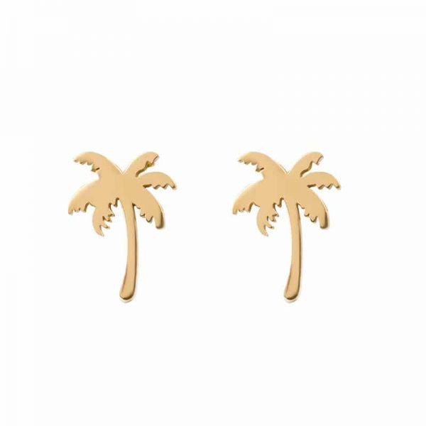 Palm tree oorbellen goud - iXXXi