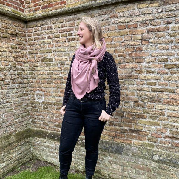 Sjaal Fien Oud Roze - Lot83