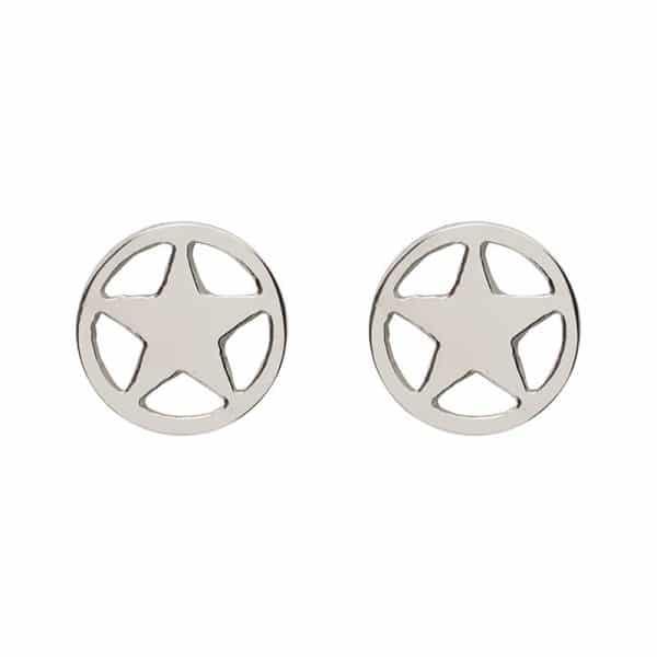 Star oorbellen zilver - iXXXi