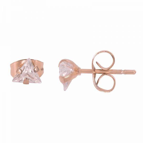Triangle stone oorbellen rosé - iXXXi