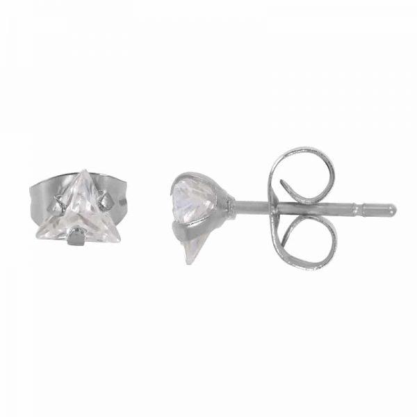 Triangle stone oorbellen zilver - iXXXi